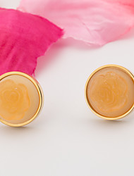 The Woman Golden Stainless Steel Earrings
