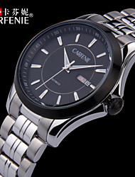 carfenie ® relógios automáticos de auto-liquidação, movt mecânica relógio de pulso dos homens, de aço inoxidável 316L Solid relógio