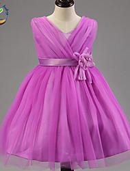 Girl's Summer Opaque Sleeveless Princess/Flower Girl/ Wedding Dress (Cotton Blend)
