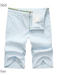 la marque de pantalons décontractés pour hommes taille fine pantalons d'été coréen de coton cinq grands short costume à carreaux en