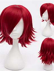 Short Straight Wine Red Cosplay Wig Synthetic Wigs