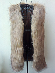 Women's Coats & Jackets , Faux Fur Casual Yifulu