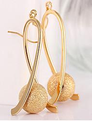 Brinco Brincos Compridos Jóias 2pçs Liga / Chapeado Dourado Feminino Dourado