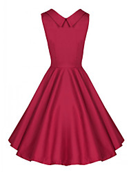 Women's Vintage Hepburn Party Dress (Cotton Blends)