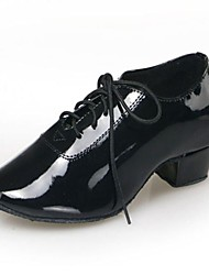 Non Customizable Men's / Kids' Dance Shoes Leatherette Leatherette Modern Heels Low Heel Indoor / Practice / Beginner Black