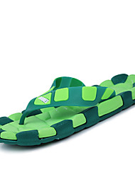 Men's Shoes Casual Rubber Slippers Blue/Brown/Yellow/Green