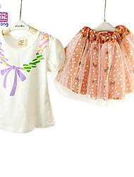 Waboats Little Girls' Short Sleeve Chiffon 2-6 Years Skirts-clothing-sets