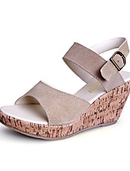 Women's Shoes Leather Wedge Heel Wedges / Peep Toe / Slingback / Open Toe Sandals Dress / Casual More Colors Available