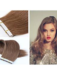 "1pc/lot Brazilian Virgin Hair Tape Hair Extension Straight Hair 18""-30"" 2.5g/pc 40pcs/lot PU Skin Weft Hair Extension"