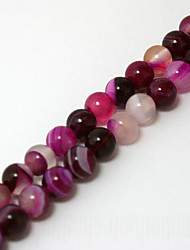 Beadia 39Cm/Str (Approx 62PCS) Natural Agate Beads 6mm Round Dyed Fuchsia Color Stone Loose Beads DIY Accessories