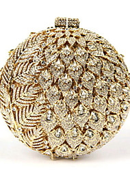 Women's Ball Shape Crystal Evening Clutch Box Minaudiere
