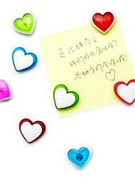 Heart Shaped Magnetic Sticker for Refrigerator 4 Pcs (Random Color)