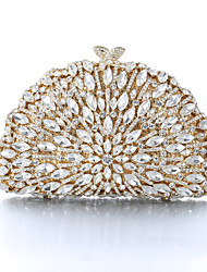 Women's Gold Plating Rhinestone Luxury Evening Bag/Clutches for Party