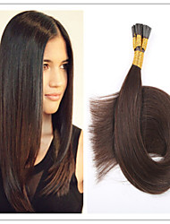 "3Pcs/Lot 1G/S 100G/PC Cheap TOP Quality Brazilian Virgin Pre-bonded Hair Keratin I Tip Hair Extensions 18""-28""In Stock"