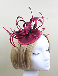 Women Satin Western Style Simple Flowers/Hats With Wedding/Party Headpiece(More Colors)