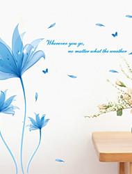 Botanique Paysage Stickers muraux Stickers avion Stickers muraux décoratifs,Vinyle Matériel Repositionable Décoration d'intérieurCalque