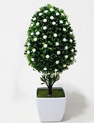 ананас в форме искусственные цветы с белой вазе