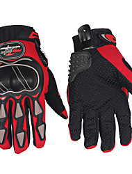 Motorcycle Protective Gloves Full Finger Antiskid Breathable Gloves  (Red/Black/Blue M-XXL)