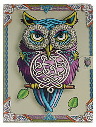 Owl Pattern PU Leather Full Body Case With Stand and Card Slot for iPad 2/3/4