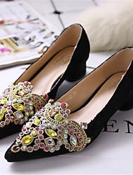Women's Shoes  Low Heel Pointed Toe Heels Casual Black/Beige
