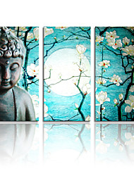 VISUAL STAR®High Quality Buddha Canvas Painting Art Ready to Hang