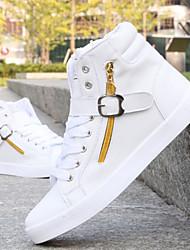 Sapatos Skateboard Masculino Preto / Branco Courino