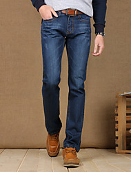 Men's fashion trend small straight tube jeans