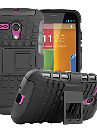 For Motorola Case Shockproof / with Stand Case Back Cover Case Armor Hard PC Motorola