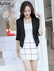 Women's ½ Length Sleeve Chiffon/Cotton Short Casual Blazer