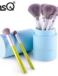 MSQ® 12pcs Makeup Brushes set Eco-friendly/Travel Fiber Blue Barrels Foundation Brush Blush brush Shadow Brush Eyeliner/Lip/Brow Brush Makeup Kit