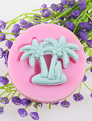 Coconut Tree Fondant Cake Chocolate Silicone Molds,Decoration Tools Bakeware