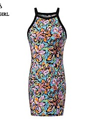 LIVAGIRL®Women's Dress Fashion Sexy Sleeveless Cheongsam Style Party Dress Chinese Style Casual Dress