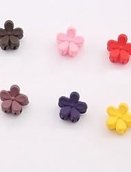 Children's Mini Flower Hairpin(Set Of 6)(Color Random)