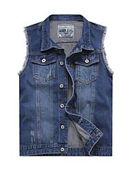 Men's Pure Sleeveless Jacket , Cotton Casual