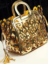 Damen - Beutel - PU - Shopper - Gold