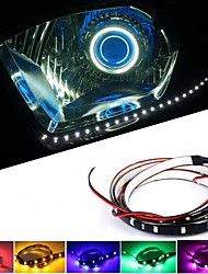 10PCS 30CM 1.5W DC 12V  Red Yellow Blue Green White Decoration, Automobile Chassis Lights, Intermediate Grid Car Lights