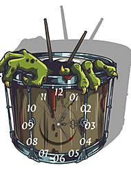 PAG®Modern Design 3D Effect Drum Pattern Clock Sticker 14.96*17.00 in