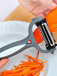 Multifunctional 360 Degree Rotary Potato Peeler Vegetable Cutter Fruit Melon Planer Grater with 3 Blades (Random Color)
