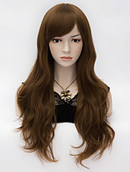 Fashion New Sexy Ladies Long Hair Spiral Curly Hair Cosplay Wig Deep Brown