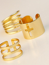 New Arrival Fashional Hollow Cross Rings A Set