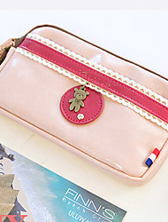 Women PU Casual Coin Purse Pink / Blue / Red