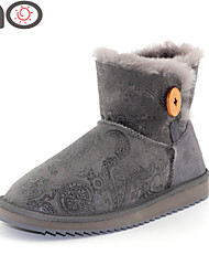 MG  New Arrive Women's Boots Snow Winter Boots Warm Flat Heel BootsTwinface Sheepskin Shoes 2015 Autumn