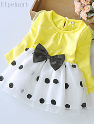 Big Elephant New Baby Girls Clothing Ball Gown Dress Kids Bow Top Outfits Sets for 3-24M D04L Yellow