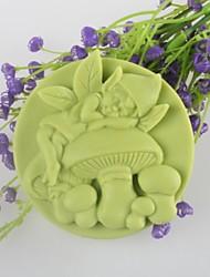 champignon esprit du savon en forme de moule mooncake moule en silicone moule à cake de fondant au chocolat, des outils de décoration