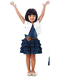 Kid's Dress , Cotton Casual/Cute/Party Cinddy