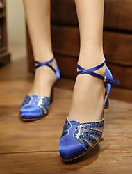 Zapatos de baile (Azul/Plata/Oro/Leopardo) - Moderno - Personalizados - Tacón Personalizado