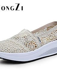 Calçados Femininos - Tênis Social - Plataforma / Creepers / Conforto / Bico Fechado / Sapatos de Berço - Plataforma -Preto / Azul / Rosa