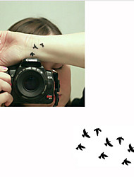 2015 Cool Black Tatto Personality Swallow Tattoo Stickers Waterproof Tattoos