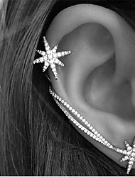 Rhinestone Simple Style Star Screen Color Jewelry