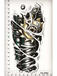 (1pcs) 2015 Hot Black Temporary Tattoo Waterproof Sexy Tattoo Body Art/Robotic Armhand/ Big Fake Tatoo Stickers